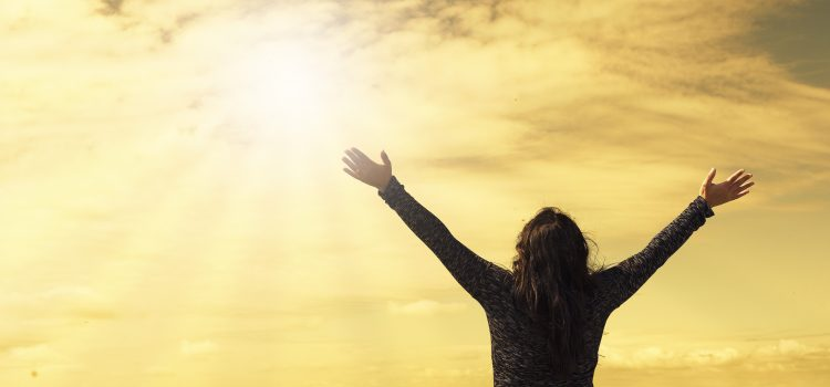 woman, sky, sunlight