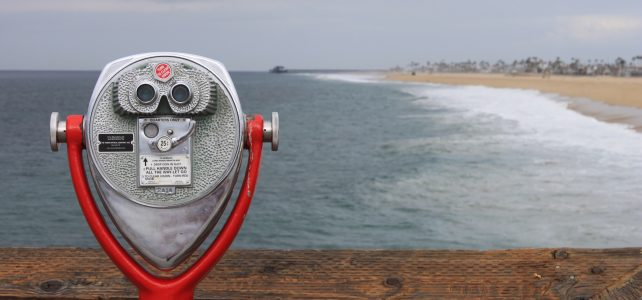looking glass, ocean, binoculars