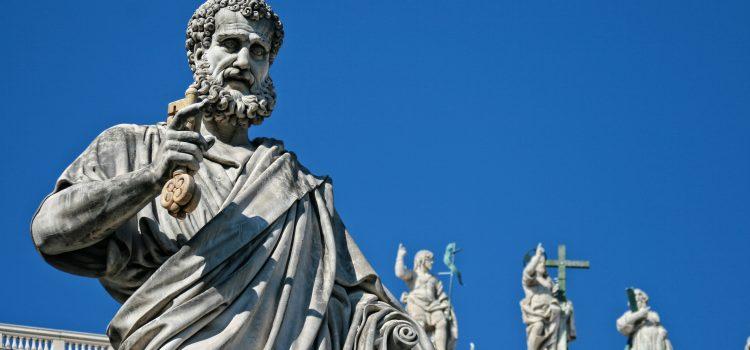 saint pierre, statue, sculpture